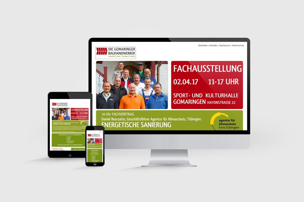 mobilefriendly, responsive Website programiert in CMS Typo3